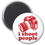 I Shoot People - Red 2 Inch Round Magnet