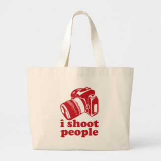 I Shoot People - Red Tote Bag