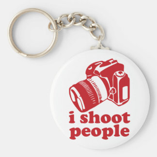 I Shoot People - Red Basic Round Button Keychain