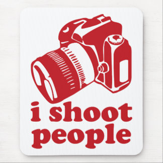 I Shoot People - Red Mouse Pad