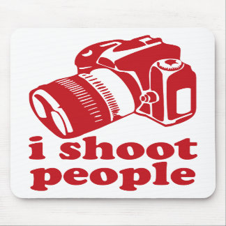 I Shoot People - Red Mouse Pads