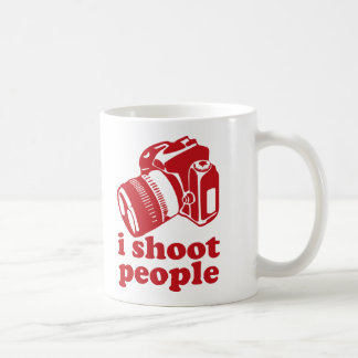 I Shoot People - Red Classic White Coffee Mug
