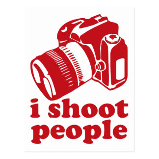 I Shoot People - Red Postcard