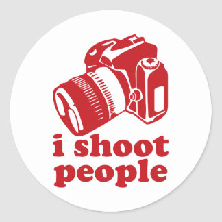 I Shoot People - Red Classic Round Sticker