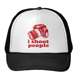 I Shoot People - Red Trucker Hat
