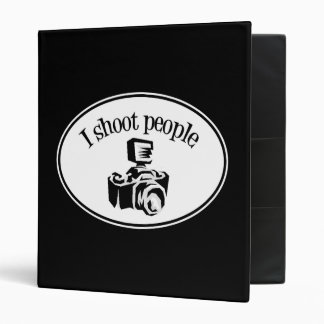 I Shoot People Retro Photographer's Camera B&W Binder