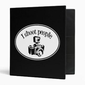 I Shoot People Retro Photographer's Camera B&W Vinyl Binders