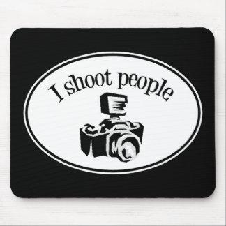 I Shoot People Retro Photographer's Camera B&W Mouse Pad