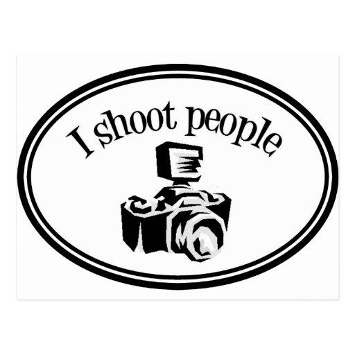 I Shoot People Retro Photographer's Camera B&W Post Cards