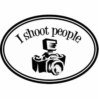 I Shoot People Retro Photographer's Camera B&W Statuette