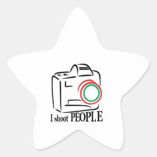 I Shoot People Star Sticker