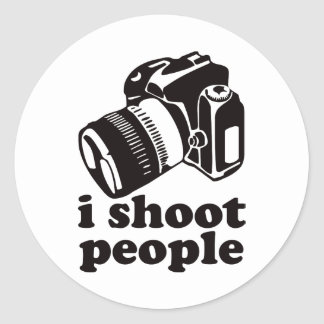 I Shoot People! Classic Round Sticker