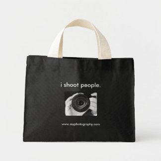 i shoot people., www.myphotography.com mini tote bag