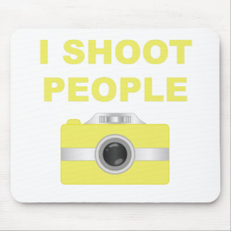 I Shoot People Yellow Camera Mousepads