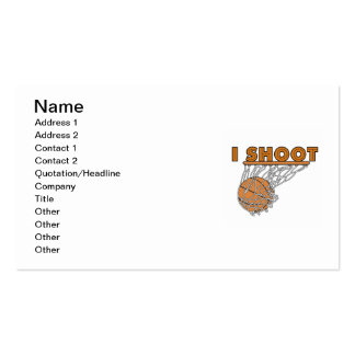 I Shoot T-shirts and Gifts Business Card Templates