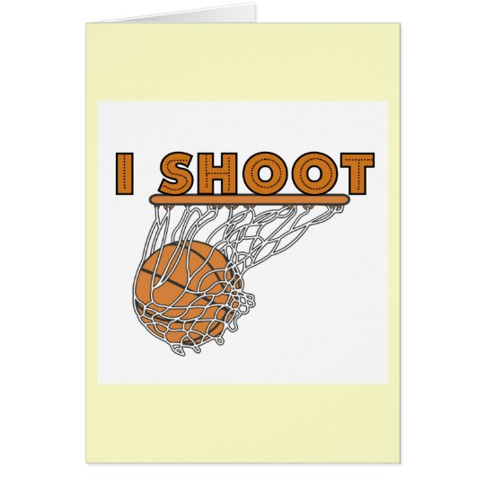 I Shoot T-shirts and Gifts Card