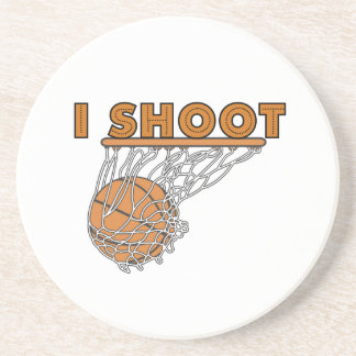 I Shoot T-shirts and Gifts Sandstone Coaster