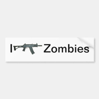 I shoot Zombies Car Bumper Sticker