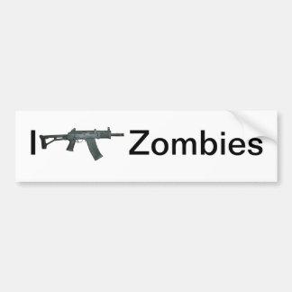 I shoot Zombies Bumper Stickers
