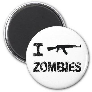 I Shoot Zombies Fridge Magnet