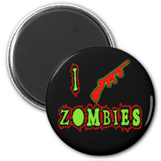 I Shoot Zombies! Funny Zombie Tshirt Refrigerator Magnet