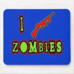 I Shoot Zombies! Funny Zombie Tshirt Mouse Pad