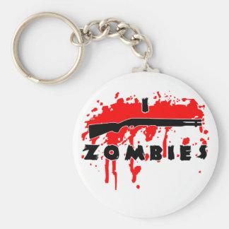 I shoot zombies keychain