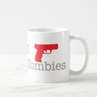 I shoot zombies classic white coffee mug