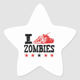 I Shoot Zombies Using Tank Star Sticker