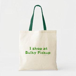 I Shop at Bulky Pickup Tote Bag (Green)
