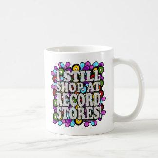 I shop at Record Stores Coffee Mug