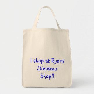 I shop at Ryans Dinosaur Shop!! Canvas Bag