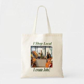 I Shop Local, I Create Jobs Tote Bags.