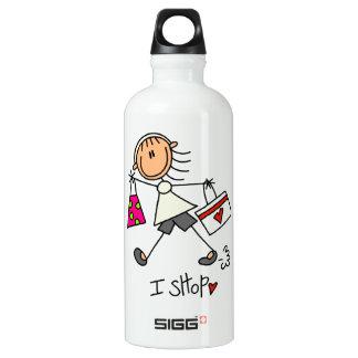 I Shop Stick Figure Girl SIGG Traveler 0.6L Water Bottle