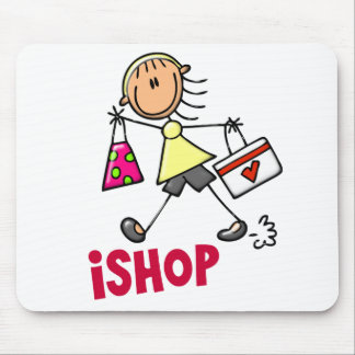 I SHOP Stick Figure T-Shirts & Gifts Mouse Pad