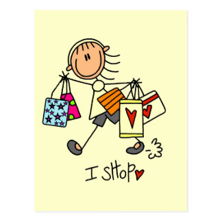 I Shop Tshirts and Gifts Postcard