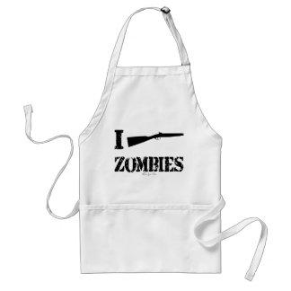 I Shotgun Zombies Adult Apron