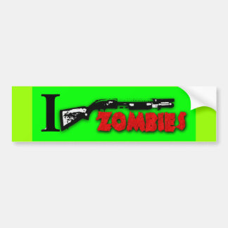 I SHOTGUN ZOMBIES BUMPER STICKER