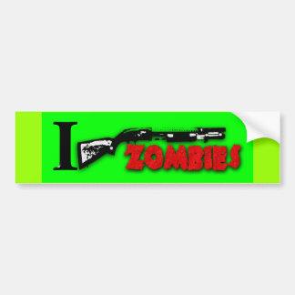I SHOTGUN ZOMBIES CAR BUMPER STICKER