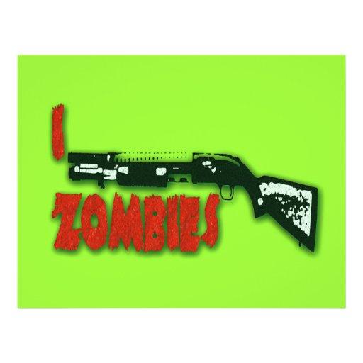 I SHOTGUN ZOMBIES FULL COLOR FLYER