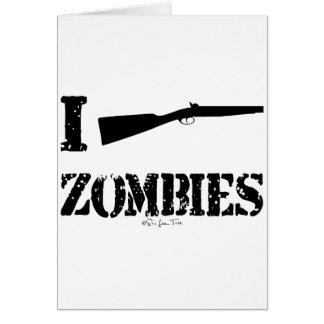 I Shotgun Zombies Greeting Card