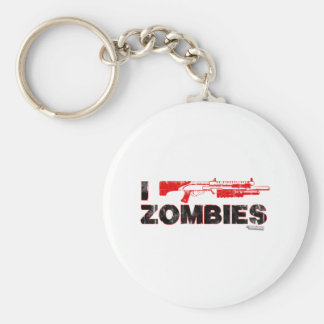 I Shotgun Zombies - Gun Shoot Kill Mutant Zomb Basic Round Button Keychain