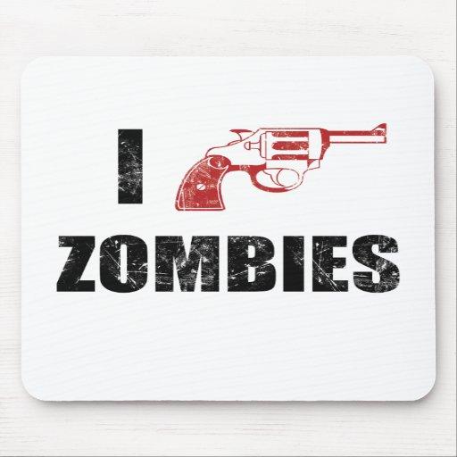I Shotgun Zombies/ I Heart Zombies mouse mat Mousepads