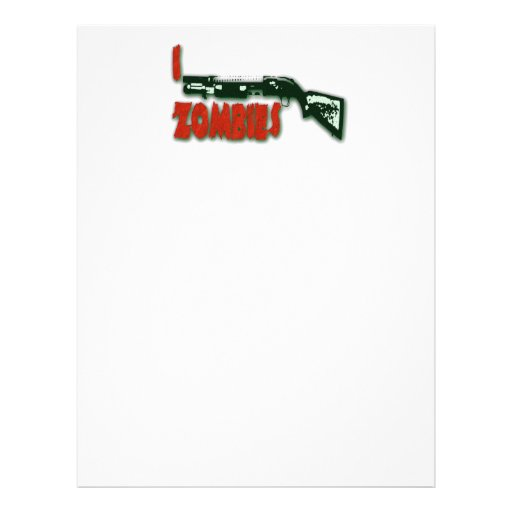 I SHOTGUN ZOMBIES PERSONALIZED LETTERHEAD