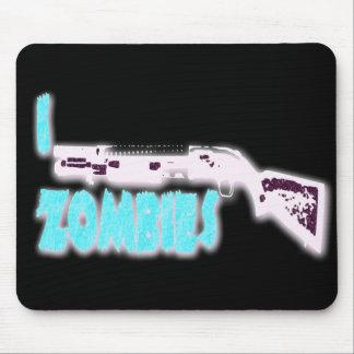 I SHOTGUN ZOMBIES MOUSE PAD