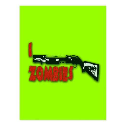 I SHOTGUN ZOMBIES POSTCARD