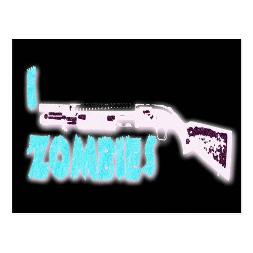 I SHOTGUN ZOMBIES POSTCARDS