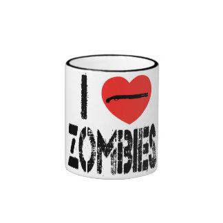 I Shotgun Zombies Ringer Coffee Mug