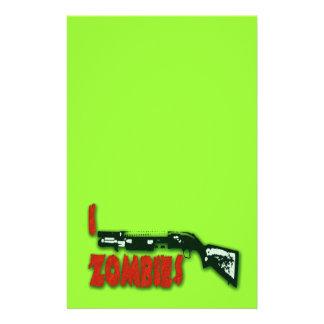 I SHOTGUN ZOMBIES PERSONALIZED STATIONERY
