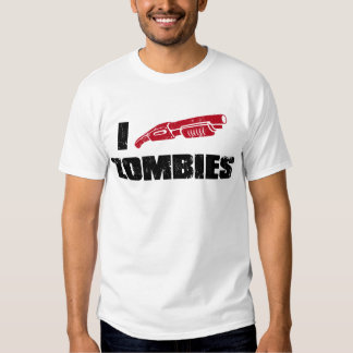 i shotgun zombies tee shirts